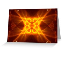 Red Hot Kaleidoscope Flame Greeting Card