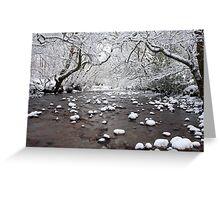 Lochaber river in Winter. Greeting Card