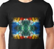 Dark Colorful Flame Reflections Unisex T-Shirt