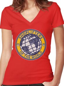 Shoplifters Of The World Women's Fitted V-Neck T-Shirt