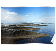 Eigg and Rum from Arisaig. Poster