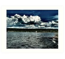 I Love Clouds Over Water Art Print