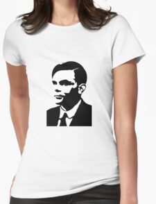 Black and White Turing Womens Fitted T-Shirt