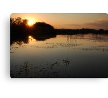 Okavango Delta Sunset - Botswana Canvas Print