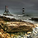 Trwyn Du Lighthouse by Adrian Evans