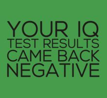 IQ Test Results by Irina Chuckowree