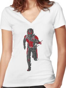 Ant-Man Vector Women's Fitted V-Neck T-Shirt
