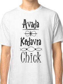 Avada Kedavra Chick Classic T-Shirt