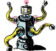 Really Rad Retro Robot by mjhmacneill
