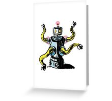 Really Rad Retro Robot Greeting Card