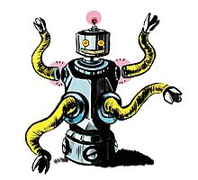 Really Rad Retro Robot Photographic Print
