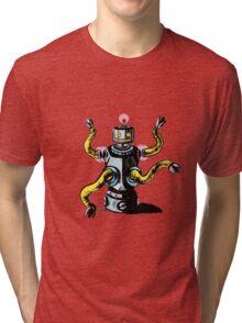 Really Rad Retro Robot Tri-blend T-Shirt