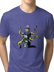 Really Rad Retro Robot Tri-blend T-Shirt