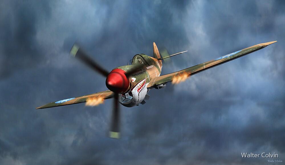 Flying Tiger P40 Warhawk by Walter Colvin