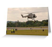 Lynx helicopter Greeting Card