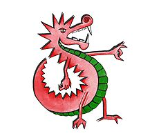 Cool Welsh Dragon Photographic Print