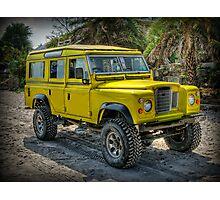 Yellow Jeep Photographic Print