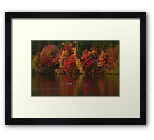Red Autumn Dusk Framed Print