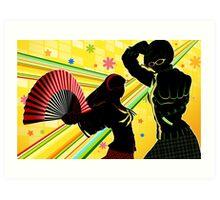 Persona 4 - Chie and Yukiko Art Print
