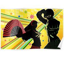 Persona 4 - Chie and Yukiko Poster