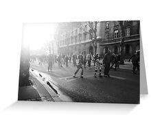 Roller Skaters in Paris Greeting Card