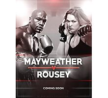 Mayweather vs Rousey Announcement Photographic Print