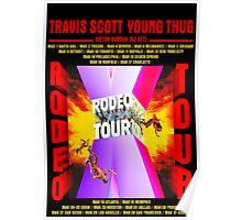 Travis Scott Rodeo Tour Poster  Poster