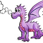Gregory the purple dragon by Purrnickerty