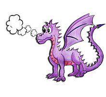 Gregory the purple dragon Photographic Print