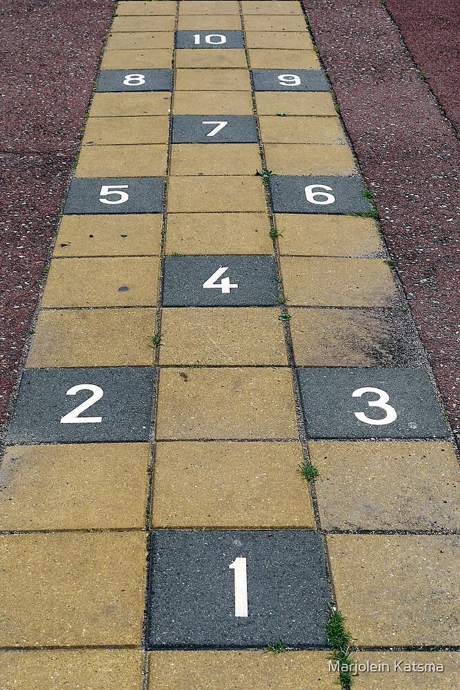 Playground hopscotch by Marjolein Katsma