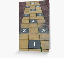 Playground hopscotch Greeting Card
