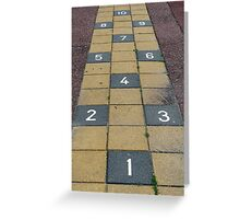 Playground hopscotch Greeting Card
