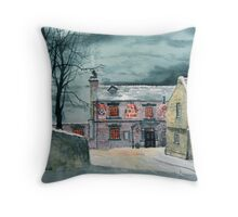 The Ship Inn, Sewerby Throw Pillow