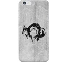 Foxhound V2 (Black) iPhone Case/Skin