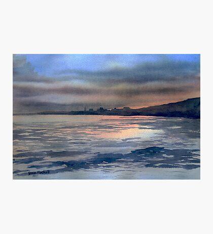 Sunset over Bridlington Photographic Print