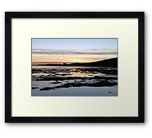Sunset Over Bridlington Bay Framed Print