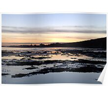 Sunset Over Bridlington Bay Poster