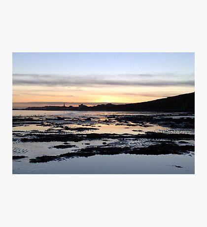 Sunset Over Bridlington Bay Photographic Print