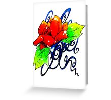 Rose and Vines Greeting Card