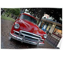 Red Chevy Rustbucket Poster