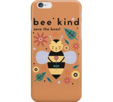 Save The Bees! iPhone Case/Skin