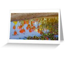Reflections In A Puddle Greeting Card