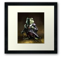 Noble Lord Frog Framed Print