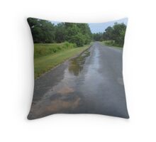the puddles reflect the memories shared Throw Pillow