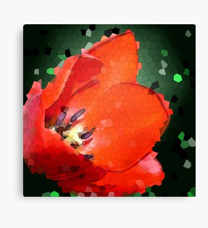 Red Tulip Fractal Canvas Print