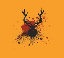 Grunge Stag with Floral Unisex T-Shirt