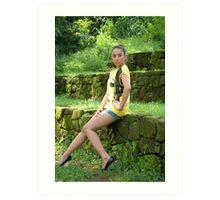 Model shoot in La Mesa Ecopark 13 Art Print