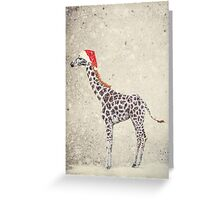 Christmas Giraffe Greeting Card