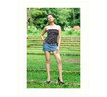 Model shoot in La Mesa Ecopark 16 Art Print