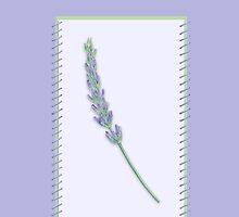 Lavender Sprig framed by Mariana Musa